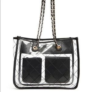 Forever 21 Clear Vinyl Chain Tote